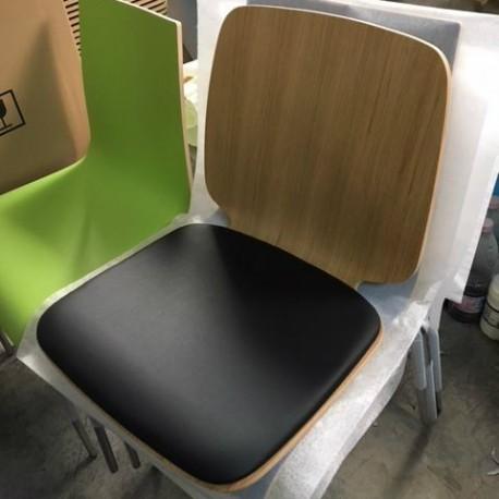 Edge stol - polstret sæde