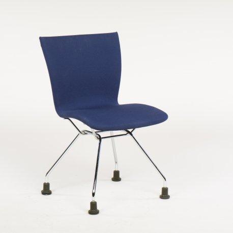 Konferencestol - blå polstring