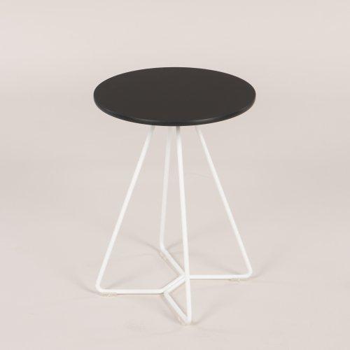 Lupino loungebord - Sort m. hvidt stel