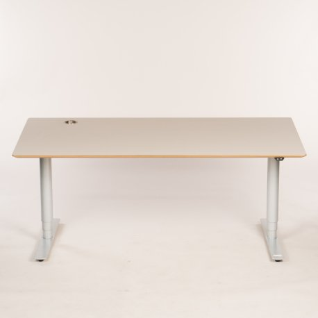 Hæve/ sænkebord - beige - 180x90