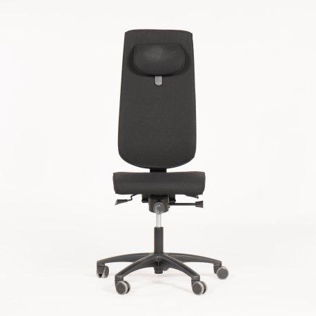 RBM kontorstol - sort polstring - højrygget