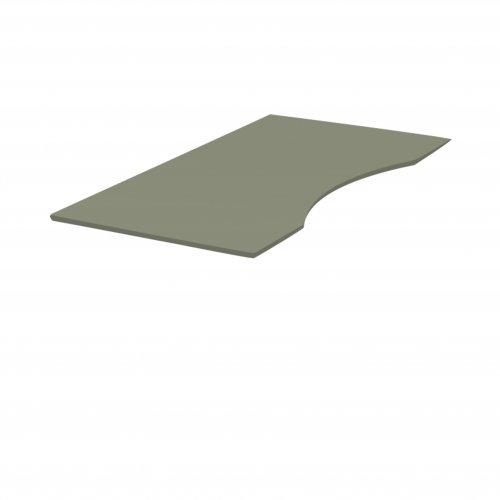 Rektangulær bordplade - Olive linoleum (4184) - MDF - affaset kanter m/ Olive lak - 180x90 - FM