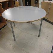 Cirkulært kantinebord - lysgrå laminat - Ø 120