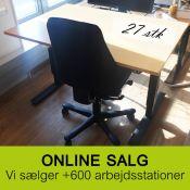 Hæve-/ sænkebord - 120x90 cm - bøg