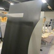 Hæve-/sænkebord - 200x100 - sort linoleum