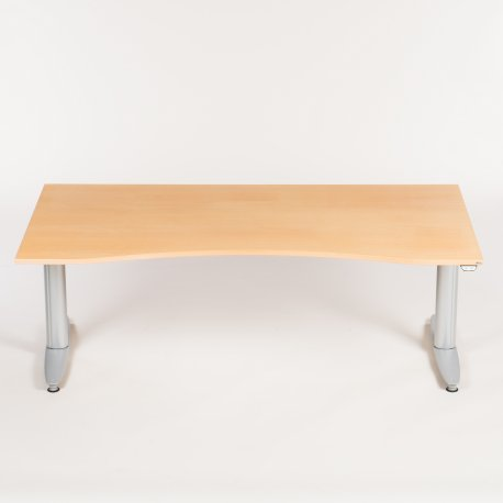 Kinnarps hæve-/sænkebord - 160x90 cm - bøg