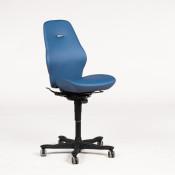 Kinnarps kontorstol - model 8000 Synchrone - blå polstring