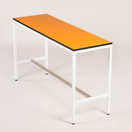 Højbord - orange laminat - 105x180x60 cm.