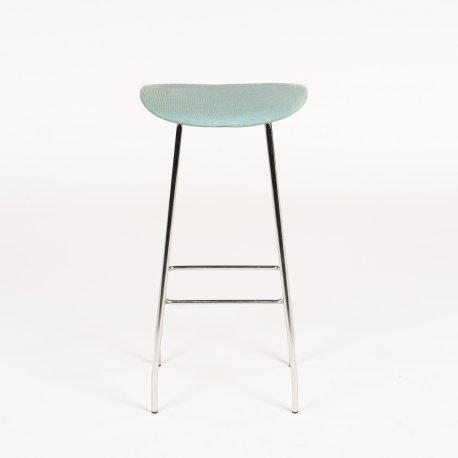 Offecct barstol - blå polstring - model Cornflake