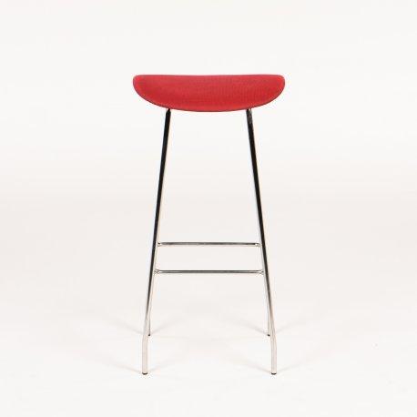 Offecct barstol - rød polstring - model Cornflake