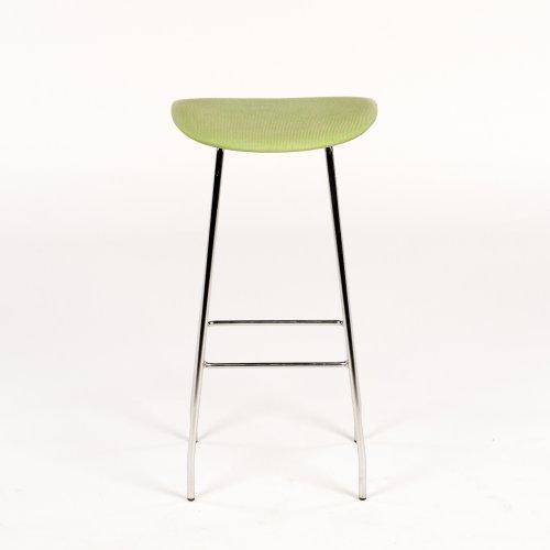 Offecct barstol - grøn polstring - model Cornflake