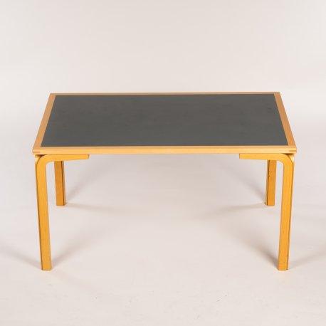 Konferencebord - bøg - mørkgrå linoleum - 140x90 cm.