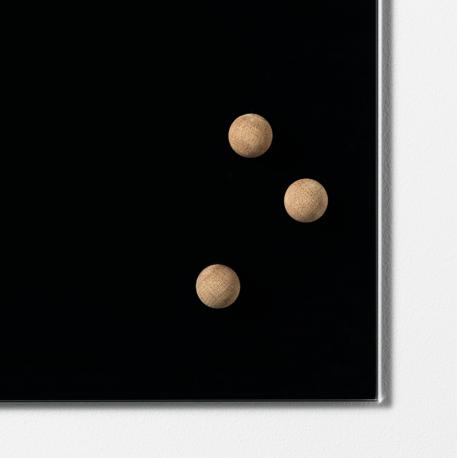 Smuk Super stærke magneter i eg eller valnød til glastavler | jkOffice GE-43