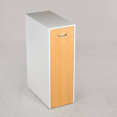 Udtræksskab - ahorn og hvidt laminat - 120x40x80 cm.