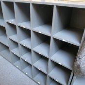Cube - dueslag/ reol - antracit - 117x105x42 cm.