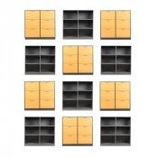 12 stk Cube Design opbevaringsmoduler