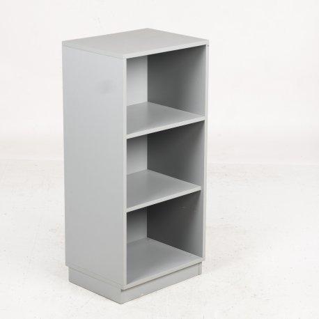 Cube - reol - tre rum - lysgrå