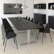 Square konferencebord med rektangulær bordplade