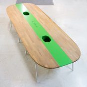 Konferencebord - egetræ - hvidlakeret