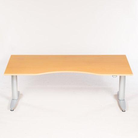 Kinnarps - bøg - smal centerbue - 180x90 cm