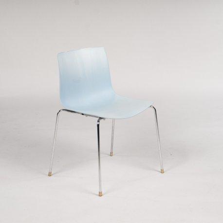 Arper konferencestol/ kantinestol - lys grå