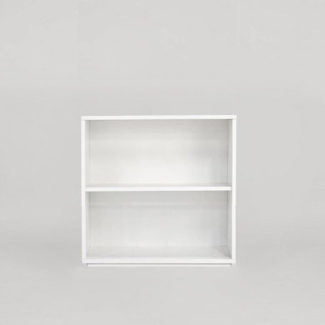 Jive reol - Hvid laminat - pladesokkel - 78x77,8x42 cm (FM 1-402-40)