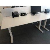 Duba hæve-/sænkebord - hvid - rektangulært