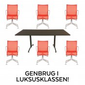 Konferencesæt m. Alias stole - rød - 6 stk.