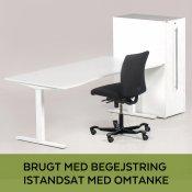 Upcyclet arbejdsstation - sort Håg kontorstol