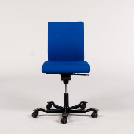 Håg H04 kontorstol - blå polstring - m. stribede fødder