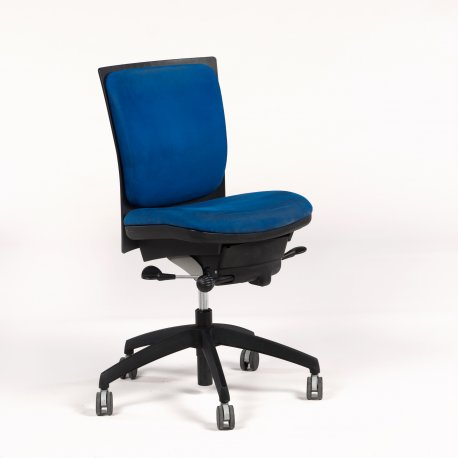 EFG Milagro kontorstol - blå polstring