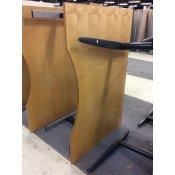 Hæve-/sænkebord - ahorn - centerbue