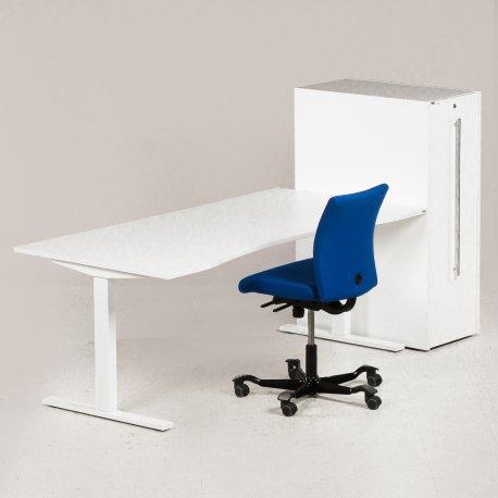 Istandsat arbejdsstation - blå Håg kontorstol