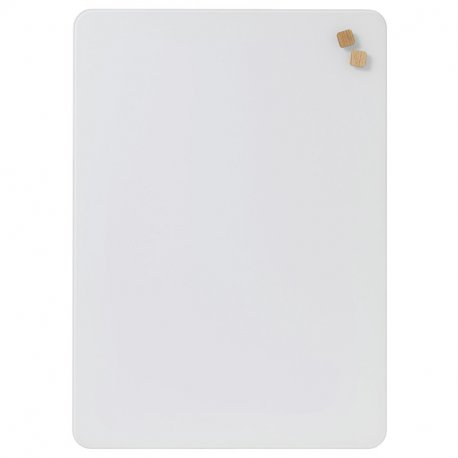 NAGA glastavle - Pure white - 50x70 cm.