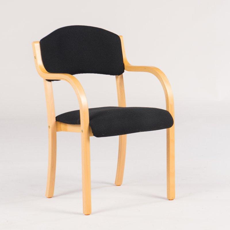 Daniel konferencestol med armlæn, grå | Lomax A/S
