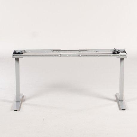 Loke 2.0 hæve-/sænkestel - silver - flex sarg
