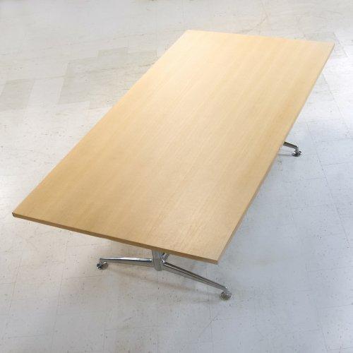 Brunner - konferencebord 240x120 cm - afslag på hjørne
