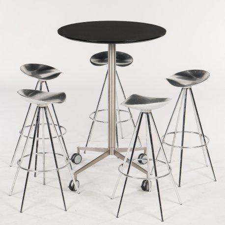 Cafesæt - højbord og barstole