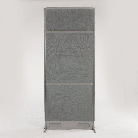 EFG skillevæg med grå ramme og grå polstring - 195x80