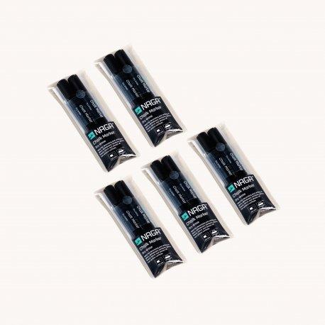NAGA pakke sort kridtmarker - 4,5 mm