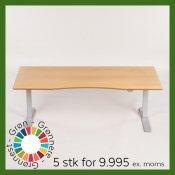 Hæve-/ sænkebord - 175x85 cm - bøg