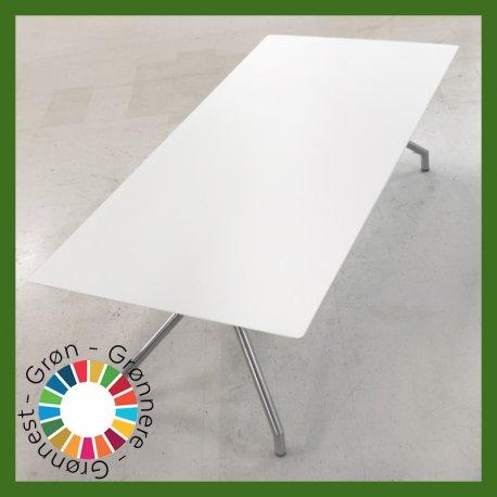 Konferencebord - Hvid - 240x110 cm