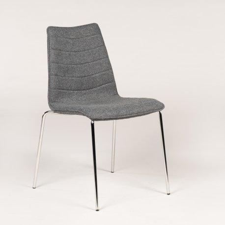 Konferencestol - F40 - Middel grå - Krom stel