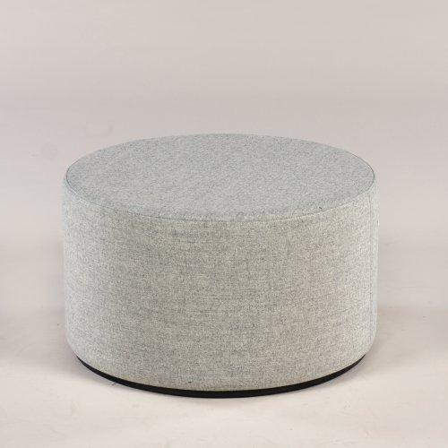 Giro rund puf - lys grå melange - Ø60 cm - 35 høj - sort base (NAR SRA102-S08)