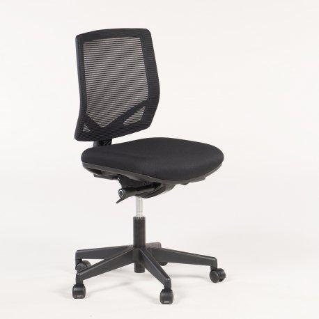 A300 kontorstol - sort m. mesh ryg - sort fod