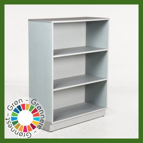 Reol - grå - 120x92x39 cm.
