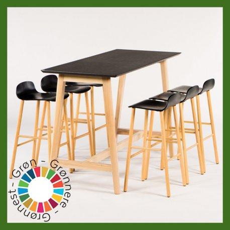 Højbord med stole