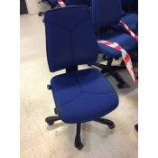 Kinnarps kontorstol - blå m. Y-syning