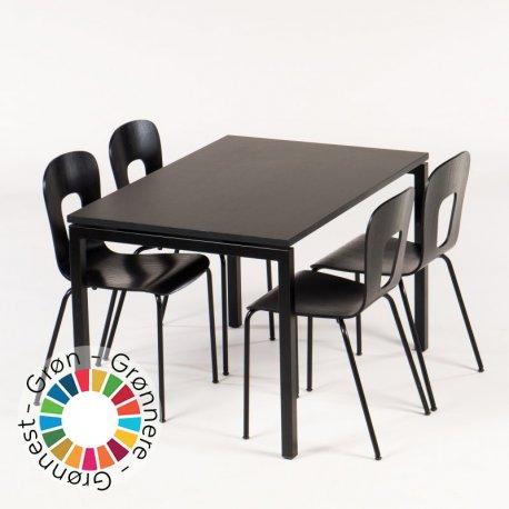Kantinebord m. 4 stole