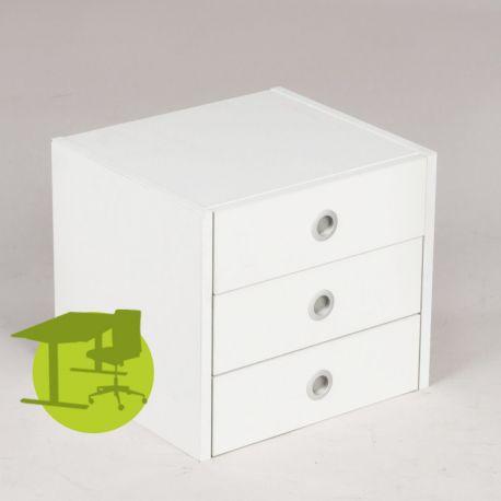 Skuffeindsats - 3 skuffer - Hvid